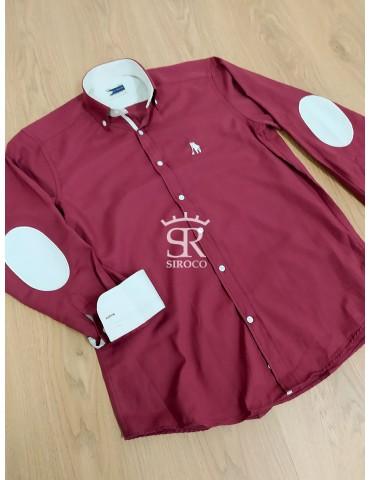 Camisa El Caballero Burdeos